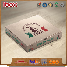 Super strong different size custom print pizza box