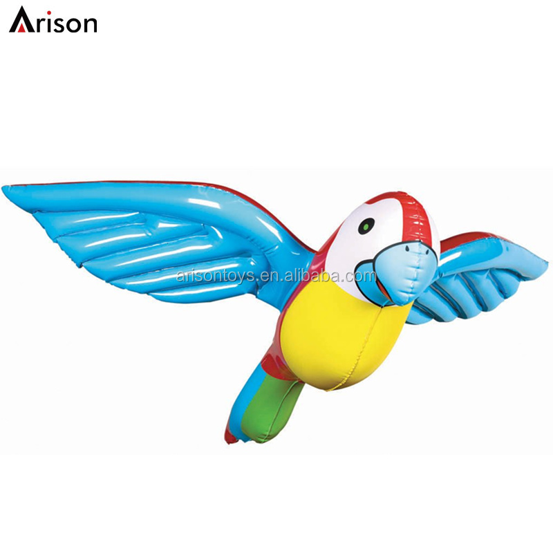 Customized beautiful inflatable parrot toy inflatable bird shaped toy