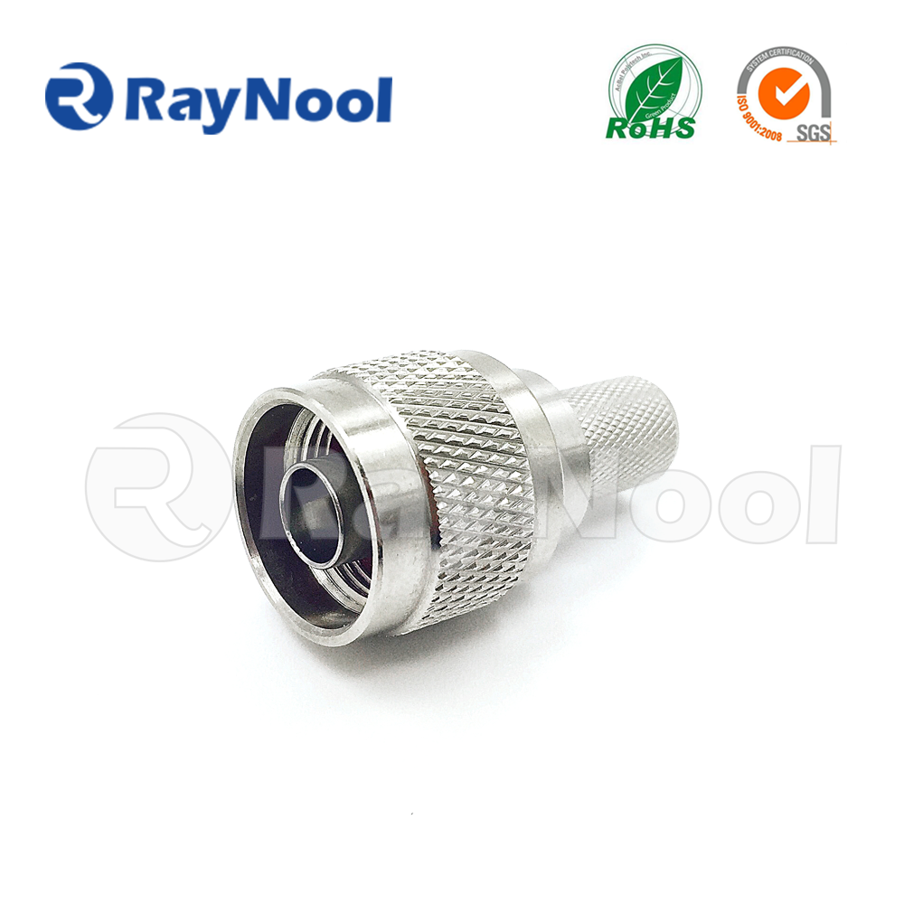 High quality Low PIM N type male crimp connector for lmr 400, RG8 Coacial cable