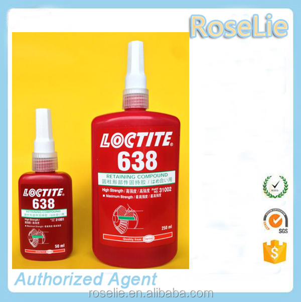 Quality same as loctite retainer bearings , loctite retaining adhesive Compound loctite 601 603 609 620 638 641 648 680 660