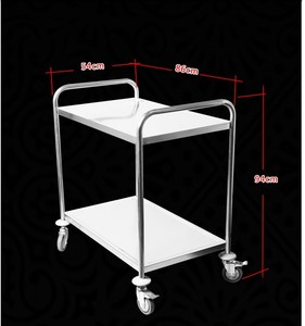 Chinese supplier custom made Stainless kitchen Steel Serving galley Cart trolley