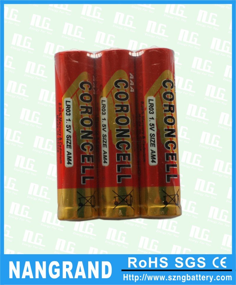 aaa lr03 dry cell battery