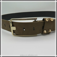 New style fashion rivet leather belt for girls