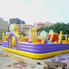 Hot giant outdoor Inflatable playground , Inflatable amusement park with printing