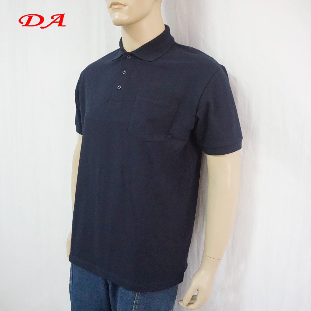 Summer short sleeve blue unisex polo shirt