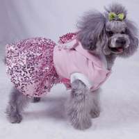 casual summer dresses pink dog skirts velvet+Sequins yarn spring summer dog sexy girl rabbit shaped dog skirts factory