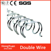 Education Supplies nylon coated double loop wire for book binding,binding double loop wire metal spiral coil