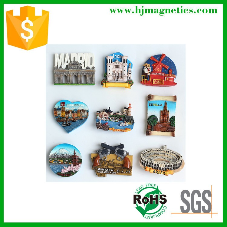 Hot sale pvc tourist souvenir fridge magnet