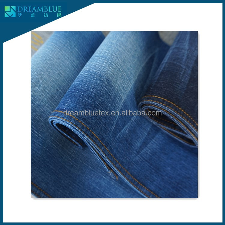 11.5oz cotton poly spandex stretch slub denim JEANS fabric mens wear