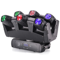 Marslite dj lights Six Eyes Mini Spiders Movinghead 6pcs 10W RGBW LED Stage Sharpy Beam Moving Head Light For Disco Home party
