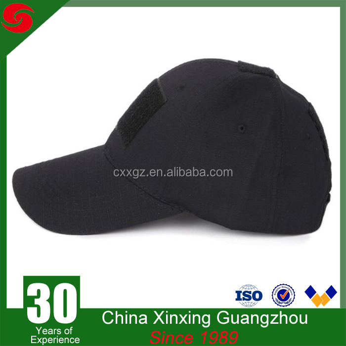 High quality black color with 100% cotton army military tactical hats baseball caps