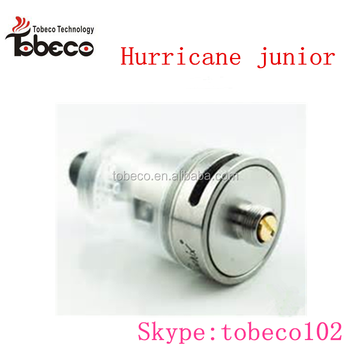 Tobeco newest hurricane junior 1:1 clone rta hurricane junior rta 2ml Hurricane junior vapor tank in stock