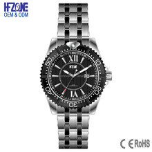 Custom 5ATM water resistant mens japan mov't stainless steel watch