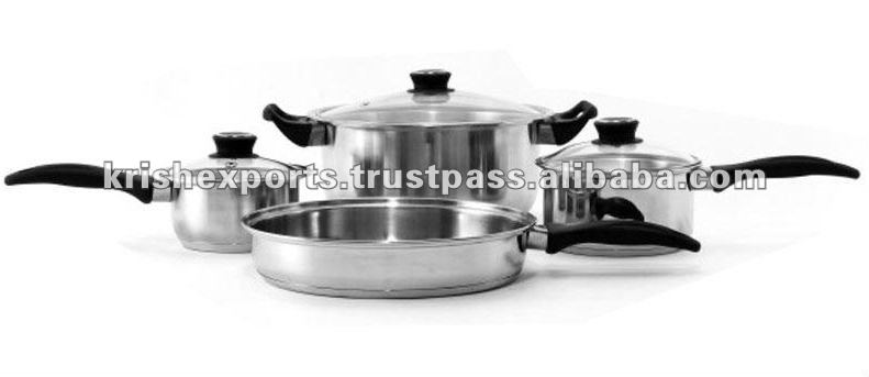 Encapsulated Regular Cookware Set with Bakelite Handles - 7/8/10/12 Pcs Set