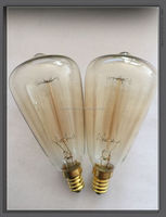 Edison antique factory directly sales ST40 edison style light bulbs