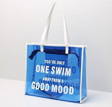 Transparent pvc beach bag tote bag can be custom