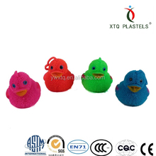 Lovely chicken toy Flashing promotional cute duck animal puffer ball
