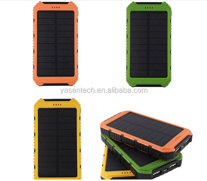 2016 New Fashion Solar Power Bank 10000mAh Portable External backup battery Charger For all mobile phone/pad
