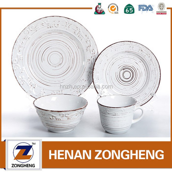 Very cheap Price 16- piece embossed tableware dinnerware set in stock