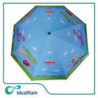 3 section uv protection your own design portabel sun umbrella