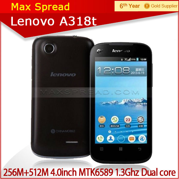 Android 2.3 Lenovo a318t dual Core 3G single Sim Dual mode 4.0 inch screen shenzhen mobile phone
