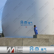 Double Membrane Biogas Holder, Biogas Storage Tank, automatic control system for customizing in UK projects