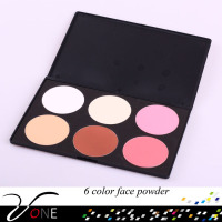 P6#1 foundation makeup fashional 6 color face powder cake palette for foundation makeup