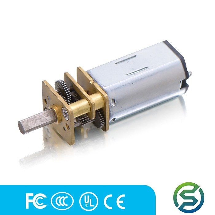 Customized 12*10mm gearbox plus N30 permanent magnet DC motor low noise for safe box China suppier