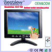 Bestview VGA /AV touch screen of 8 inch desktop lcd display