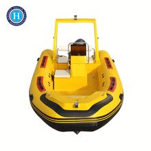 CE certified PVC or Hypalon fiberglass atomix boat for sale(HLB470C)