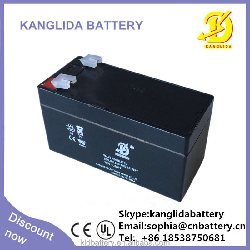 12 volt sealed lead acid storage battery 12v1.3ah deep cycle rechargeable for security alarm system