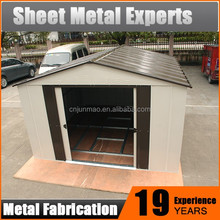 Quick assemble good flat pack shed garden,new style metal shed kit