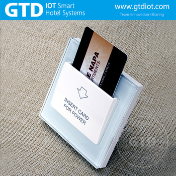 Hotel Card Key Switch, Tempered Glass Panel, RFID card Reader
