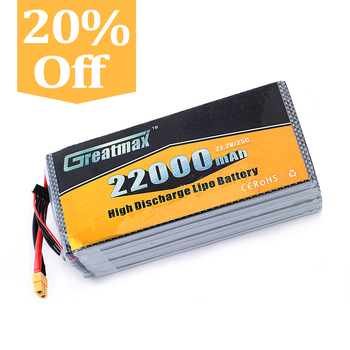 High Capacity 22000mah 6s 22.2v 25c Rechargeable Lithium Polymer ...