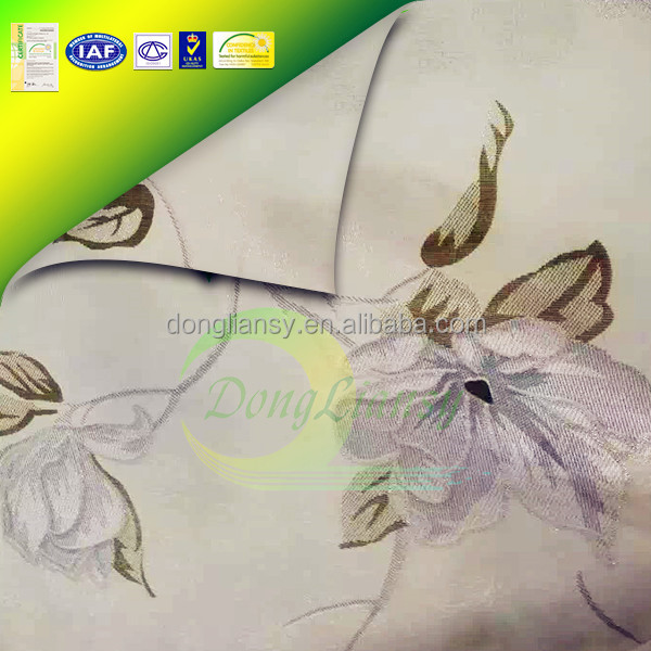 Pain Dyed Satin Pattern Knitted Mattress Fabric
