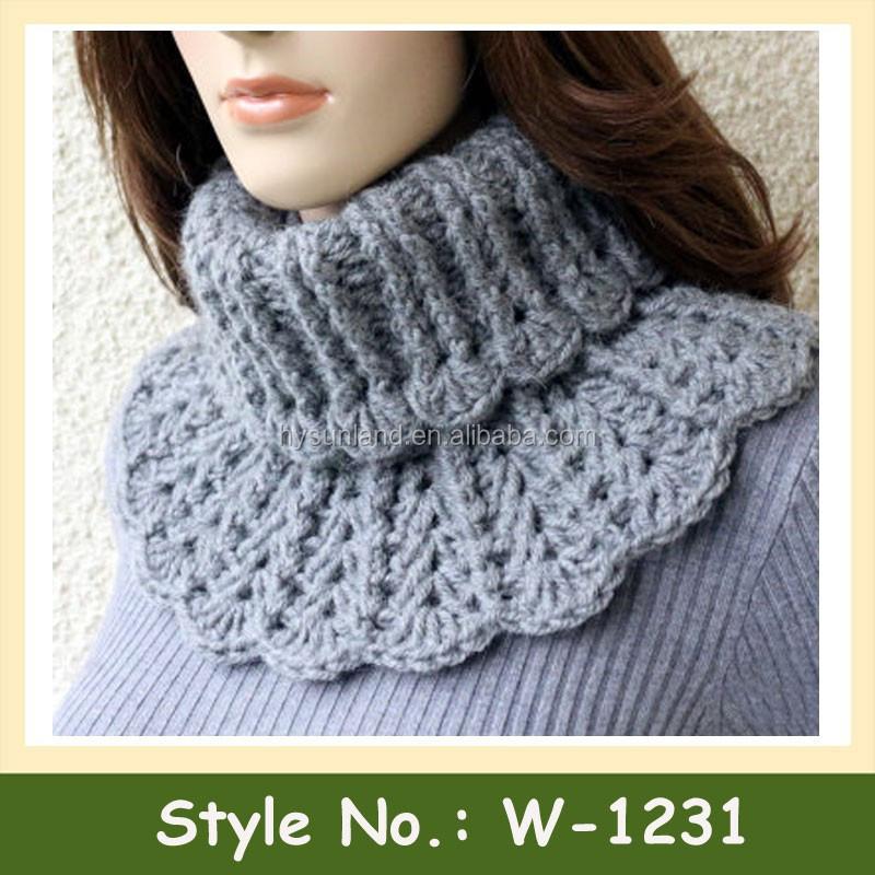 Воротник-шарф для вязания спицами 925