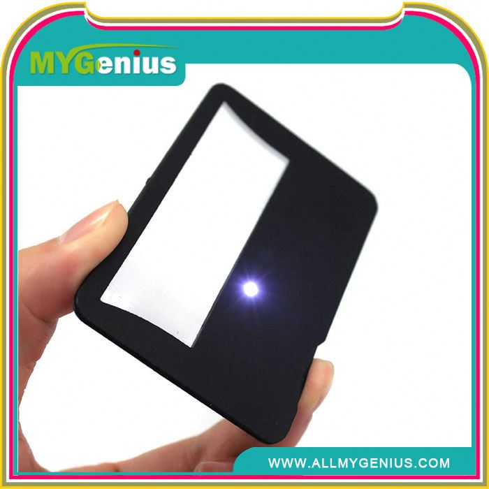 oem card magnifier ,H0T007 book mark with led magnifier , plastic magnifying sheets