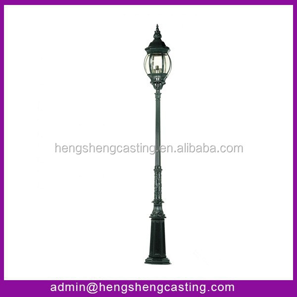 Aluminum Outdoor cast iron garden decorative lamp post manufacturer