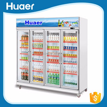 Good quality soft drink refrigerator beer fridge pepsi freezer commercial refrigerator with glass door
