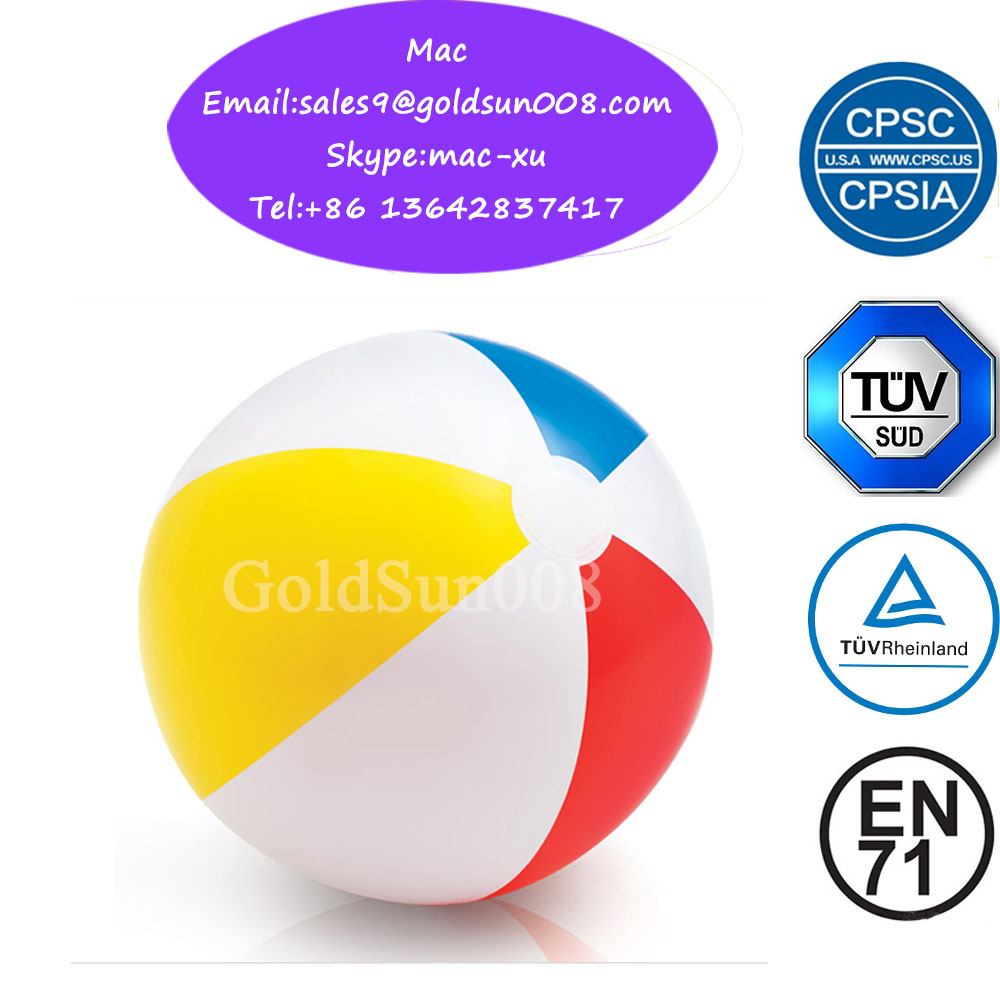 "Beach Ball Set, 3 Jumbo 24"" Beach Balls and 6 Mini 5"" Beach Balls"