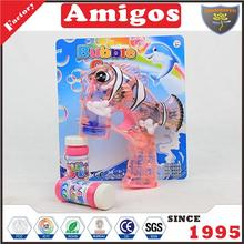 wholesale Bubble with light and music 2 pcs water clown fish transparent red/blue plastic bubble toy gun