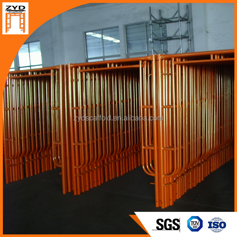 Standard Size Steel Galvanized H Frame Scaffolding For Construction