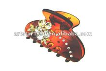 flower rhinestones plastic hair pin/ alligator hair jaw clips/hair accessory