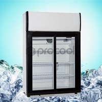 Double Door Counter Top Display Refrigerator