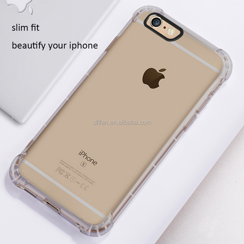 Shockproof TPU Silicone Protective Clear Gel Case Cover For Apple iPhone 6 plus 6s plus