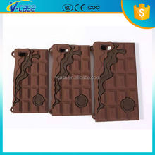 Chocolate silicone case with chain for iphone 4 4s 5 6 6Plus
