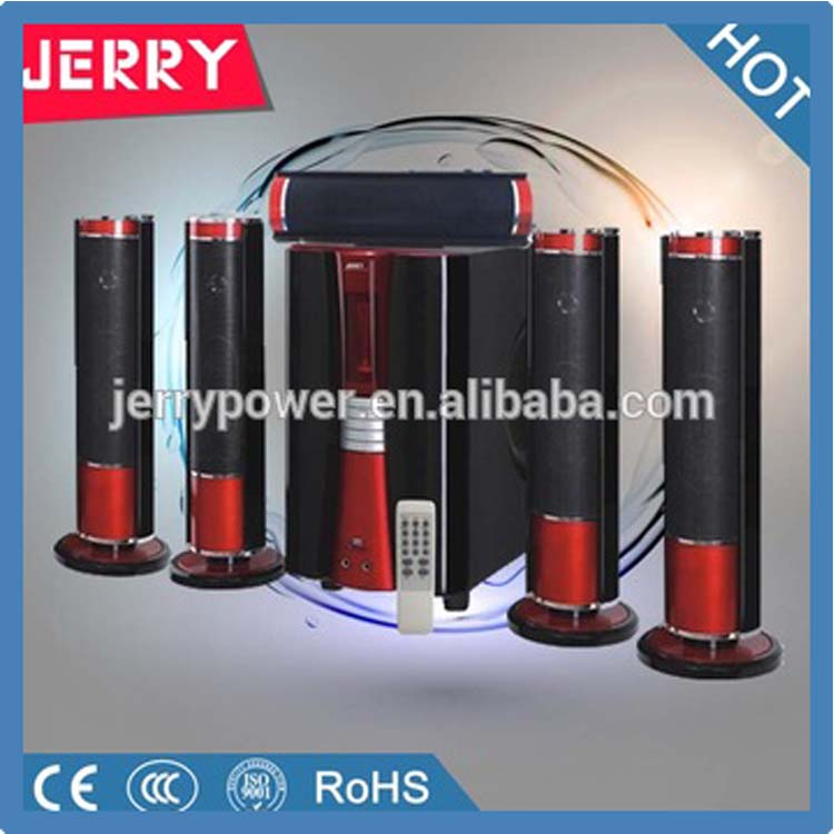 jerry 5 1 hot selling home theater speaker with bluetooth sd usb fm hometheatre sound system. Black Bedroom Furniture Sets. Home Design Ideas