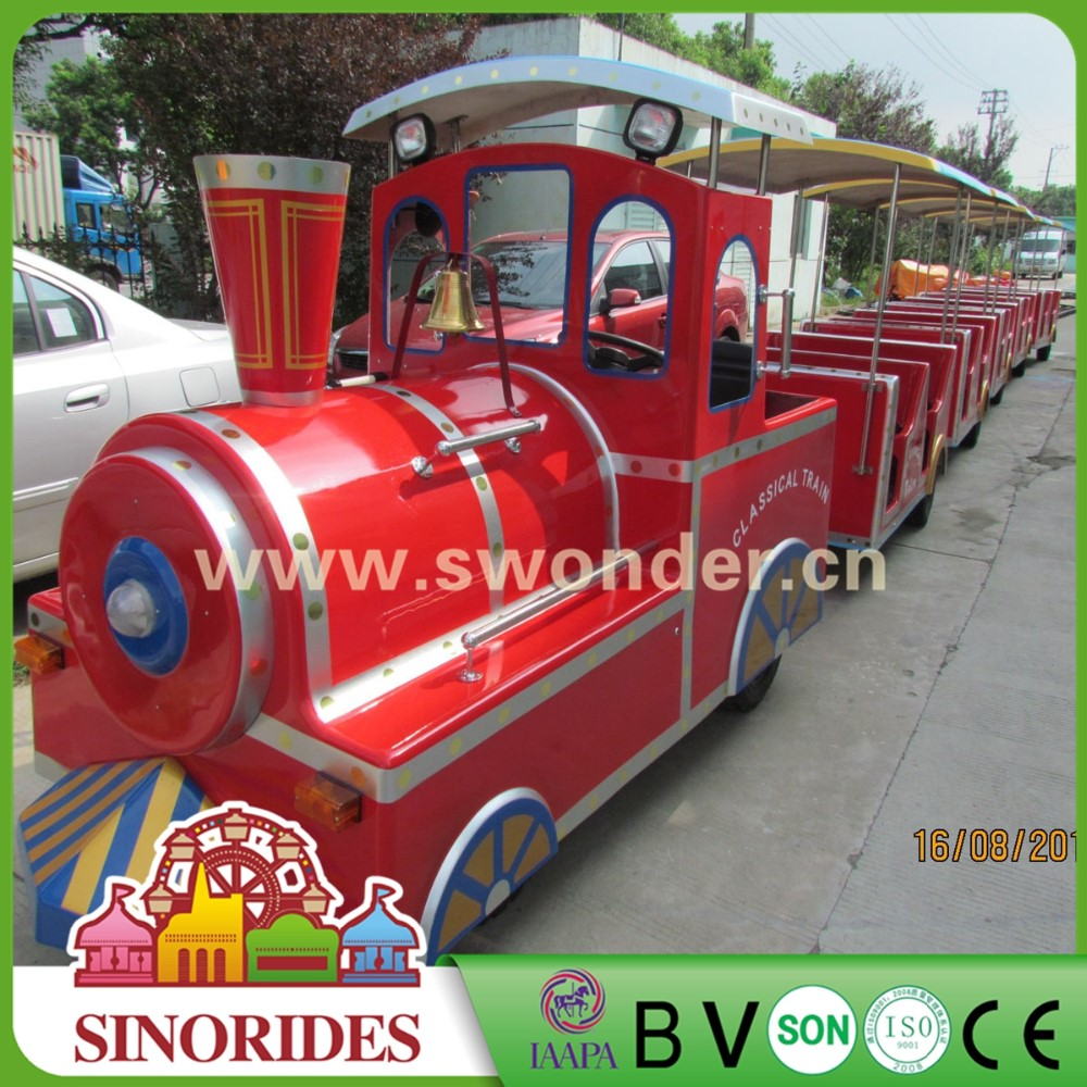 trackless train ride for outdoor amusement park rides