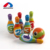 Wholesale cartoon style sport set colorful mini soft bowling pins toy with high quality