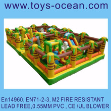 inflatable jungle animal maze obstacle course for sale